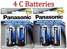 4 Wholesale C Panasonic Battery Batteries Super heavy duty Bulk Lot