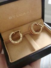 LUXURY 18CT YELLOW GOLD BVLGARI B ZERO HOOPS ORIGINAL BOX RRP 2480