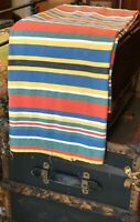 Vintage c. 1940-50s French soft cotton beach cabana awning stripe fabric
