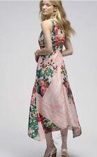Butterfly Garden Midi Dress Size 0 Pankaj And Nidhi Beaded Wedding NWT