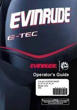 Evinrude Outboard Owners Manual 2008 E-TEC 115, 150, 175, 200 HP Models SL, BX