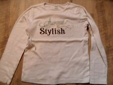 GYMBOREE cooles Langarmshirt sweet & stylish weiß Gr. 9/134 TOP ST817