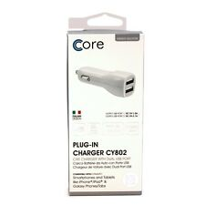 Core Dual USB car charger White
