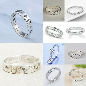Fashion 925 Silver Rings for Women Jewelry Wedding Engagement  Ring Gift Sz 6-10