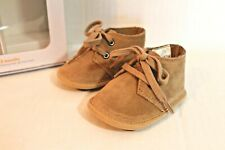 Gymboree Beige Tan Brown Ankle Crib Boots Baby Boy 0-3 Months Size 1 Shoes NEW