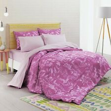 Bluebellgray Fleur King Cerise Pink  Duvet Cover  & Sheet Set $465 6 Piece