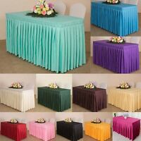 Rectangular Table Cloth Skirt Polyester Party Home Decor Fitted Tablecloth Cover