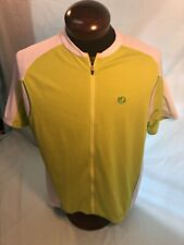 Mens PEARL IZUMI CYCLING JERSEY 2XL XXL Flo/Yellow Pouch Back W/Zip