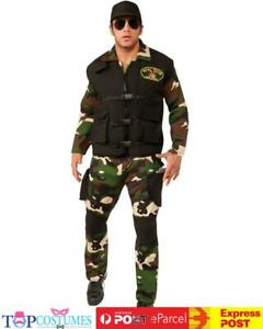 SEAL Team 3 Army Costume Mens Police Military Uniform Halloween Outfit