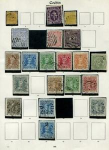 INDIAN STATES: Cochin State - Ex-Old Time Collection - Album Page (41660)
