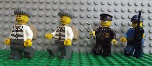 4 x Lego Brand New Mini Figure Fig Policeman Police & Robbers On The Run
