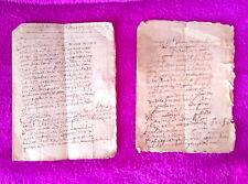 Manresa, 2 Manuscrits de Monestir de Nostra Sra Du Carme, 1685, Molt Rars