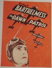 THE DAWN PATROL '30 WWI Aviation Film RICHARD BARTHELMESS Vitaphone Movie Herald