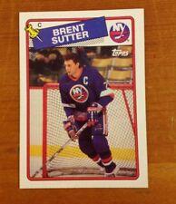 BRENT SUTTER 1988 TOPPS TRADING CARD.