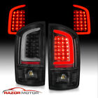 Fit 02-2006 Dodge Ram 1500 03-06 2500 3500 LED Tube Black Tail Light Brake Lamp  for sale