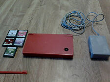 Nintendo DSi Red System Bundle, 5 Games and Charger