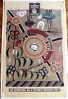 Australia Aboriginal Art Poster 1993 YEAR OF THE WORLDS INDIGENOUS PEOPLE Harris