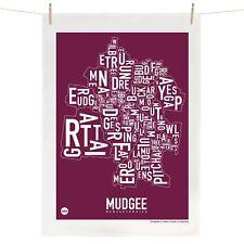 Mudgee Tea Towel Australian Souvenir 100% Linen Map Gift