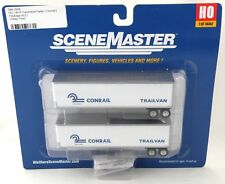 HO Scale 40' Trailmobile Trailers (2 Pack) - Conrail - Walthers #949-2504