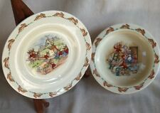 Royal Doulton Bunnykins Small Plate And Bowl.