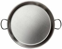 La Valenciana Paella Pan Finish Polished Extra Thick Stainless Steel Black,