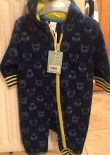 Boots Mini Club Blue  All IN ONE WITH HOOD Soft & Cosy  AGE 0 - 3 Months BNWTAGS