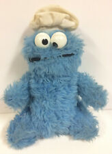 "VINTAGE KNICKERBOCKER SESAME STREET COOKIE MONSTER PLUSH DOLL 9"" TALL"