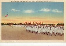 1944 REGIMENTAL REVIEW IN C AREA NAVAL TRAINING STATION, SAMPSON, NY R G Borden