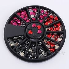 Nail Rhinestone Crafts 3D Nail Art Decoration Wheel Manicure DIY Heart Design