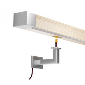Led Holzhandlauf Handlauf mit Beleuchtung Eiche 50x40mm Echtholz EdelstahI Inox