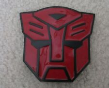 Transformers Belt Buckle Red Metal Brand New