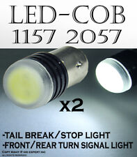 COB LED 1157 2057 7528 White Replace Car Front Turn Signal Light Bulb 91S