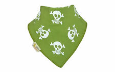 New Funky Giraffe Baby Toddler Boy Bandana Dribble Bib Green White Pirate Skulls