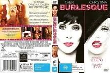 BURLESQUE-DVD-Cher, Christina Aguilera-Region 4-New AND Sealed