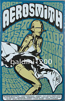AEROSMITH - HIGH QUALITY VINTAGE 2002 CONCERT POSTER - LOOKS AWESOME FRAMED