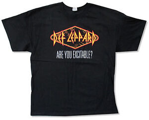 Def Leppard Excitable Spring 2013 Tour Adult Black T Shirt New Official Merch