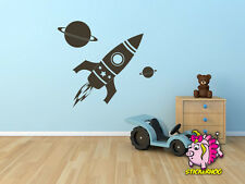"Rocket Ship kids room, nursery vinyl wall decal graphics 36"" Rocket"