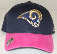 NFL St. Louis Rams Multi-Color Breast Cancer Awareness Fitted Hat By Reebok, S/M