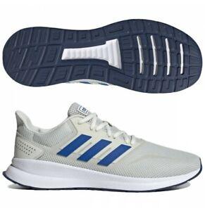 Adidas Men Running Shoes Runfalcon Training Workout White Gym GREY