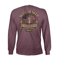Winchester Official Men's Southern Rebel Skull Graphic Long Sleeve T-Shirt