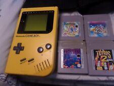 Nintendo GameBoy Original Handheld Console Bundle Yellow Game Boy Hand Held