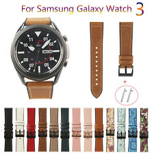Leather Strap for Samsung Galaxy Watch3 41 45mm 42 46mm Huawei Watch GT TPU Band