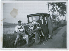 Blumenernte im Opel, Original-Photo, um 1930