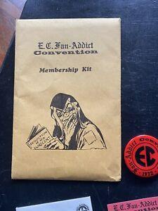 ec comics 1972 fan-addict convention membership kit