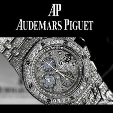 Diamonds Audemars Piguet Royal Oak Offshore Watch Diamond Dial, Case, Bracelet
