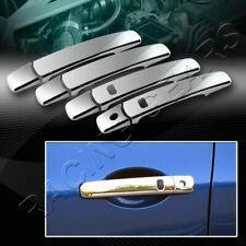 MIRROR CHROME DOOR HANDLE COVER CAPS FIT 08-13 NISSAN ROGUE W/SMART KEY HOLE