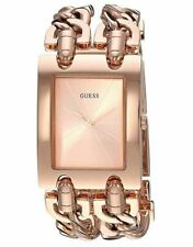 GUESS U1117L3 Rose Gold-Tone Stainless Steel Double Chain 28mm Women's Watch*