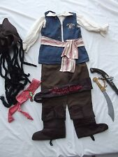 Disney Parks Captain Jack Sparrow Pirates of Caribbean costume hat gun Child M 8