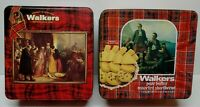 Lot of 2 Empty Tins WALKERS SCOTLAND Shortbread Cookies Various Size Please Read