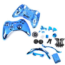 Metal Plated Full Housing Shell Case Kit Parts for Xbox 360 Controller Blue